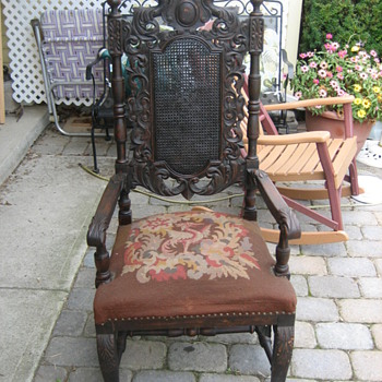 Some medieval armchair looks European I would think German or Austrian. - Furniture