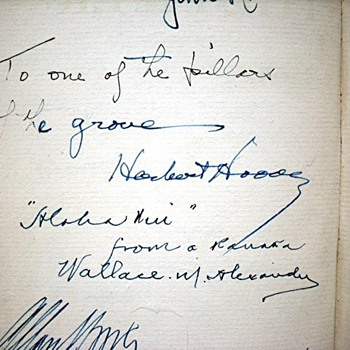 Bohemian Club Book - Signed by President Herbert Hoover and others