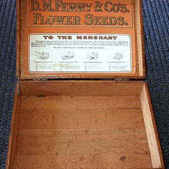 Vintage D.M. Ferry & Co's Flower Seed Display. - Advertising