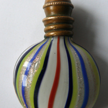 miniature perfume bottle - Art Glass