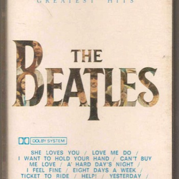 "The Beatles ""20 Greatest Hits"" - Cassette Tape - Music Memorabilia"