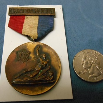 "1921 ""U S NATIONAL MATCH"" Medal~Shooting?  Or what?"