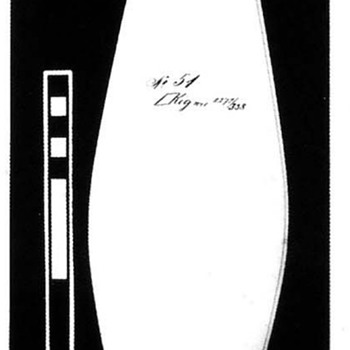 LOETZ II-51 (1900) COBALT PAPILLON OVER RUBIN.