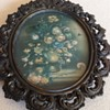 Small Flower picture in ornate brass frame