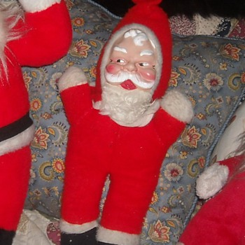 Still Yet Another Plastic Face Santa Doll - Christmas