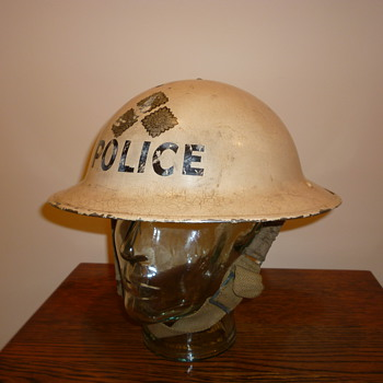 British WWII Chief Inspector of Police steel helmet. - Military and Wartime