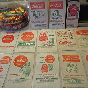 Various Coca Cola Dry Servers from the 1930s, 40s and 1950s - Coca-Cola