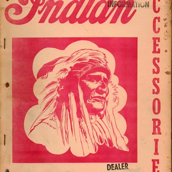 1957 - Indian Motorcycles Accessories Catalog - Paper