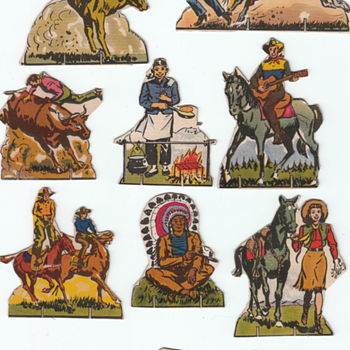 Cowboy Cut Outs for Kids  - Paper