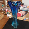 Unknown Blue Glass Vase Help I.D.