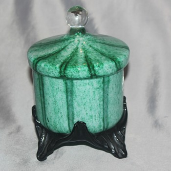 Green Covered Candy Dish
