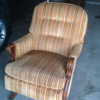 Found Grandmas Platform Spring 1930's Rocker - Furniture