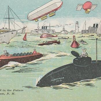 "The ""Future"" of Cobbett's Pond Ca. 1920 Postcard"