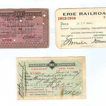 Railroad Passes - Railroadiana