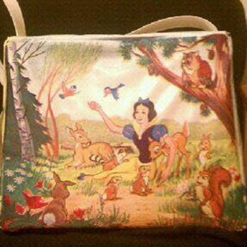 1967 Snow White And Seven Dwarfs Vynal Brunch Bag - Bags