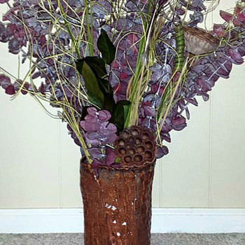 "I call this my ""Tree Trunk"" vase - Pottery"