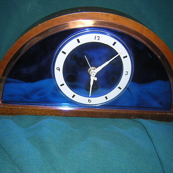 Blue Mirror Clock - Clocks