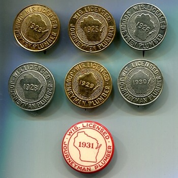 Wisconsin Licensed Journeyman Plumber Badges