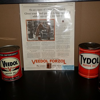 My Veedol/Tydol Shelf - Petroliana