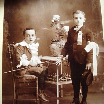 Poignant Image on a Cabinet Card - Photographs