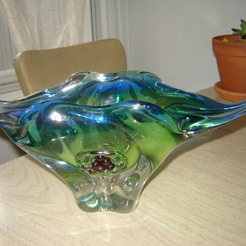 antique glass ashtray - Art Glass