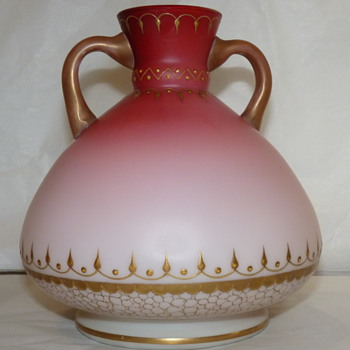 Harrach Double handled persian influence satin pink to cream