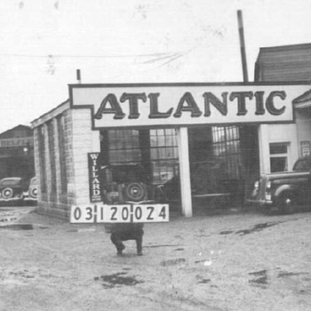 Atlantic Service Station Then & Now