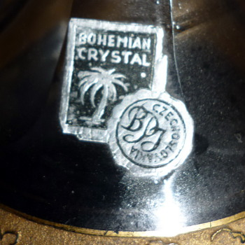 BOHEMIAN CRYSTAL LABEL - Art Glass