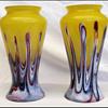 Pair of  Rindskopf Pulled Feather vases