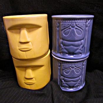 2004 Whalers Rum Tiki Mugs - Kitchen