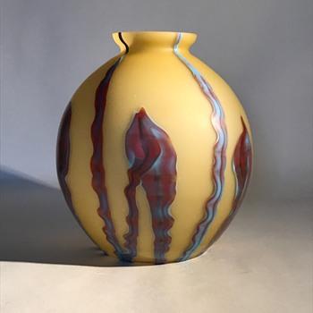 Kralik Satin Bambus Ball Vase - Art Glass