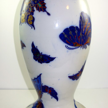 Faience Lamp Base, ca. 1900
