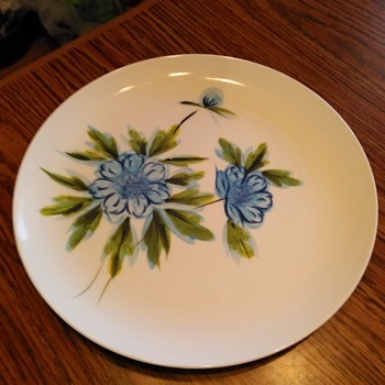 "This is a beautiful platter/chop plate by Jackson Internationale made in Japan. The pattern is called ""Blue Boy"" Funah Fancy."