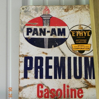 Pan Am Pump sign - Signs