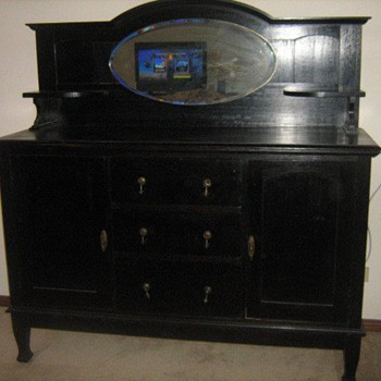Antique Oak Sideboard - Furniture