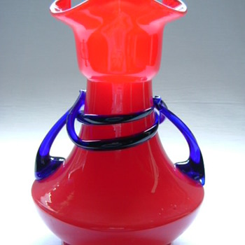 Czech Art Deco Tango Glass Vase