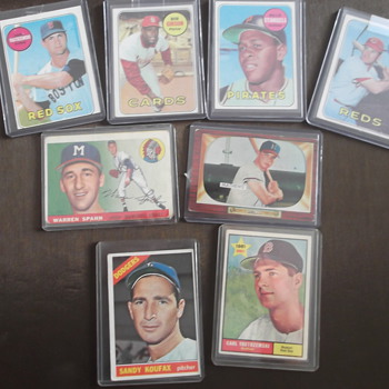 Vintage Baseball Cards Hall of Famers - Baseball