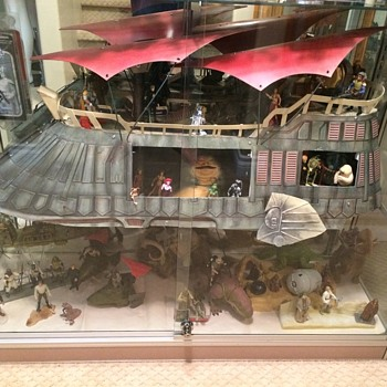 Star Wars Jabba the Hutt's Sail Barge - Airbrushed Boba Fett Slave 1 Style - Toys