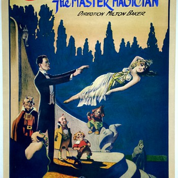 "Original ""Gordon The Master Magician"" Levitation Stone Lithograph Poster"