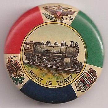 One of my favorite EARLY Railroad pinback button's