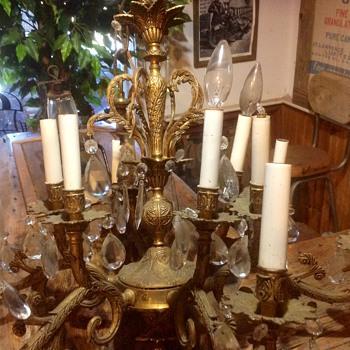 SOLID BRASS CHANDELIER! - Lamps