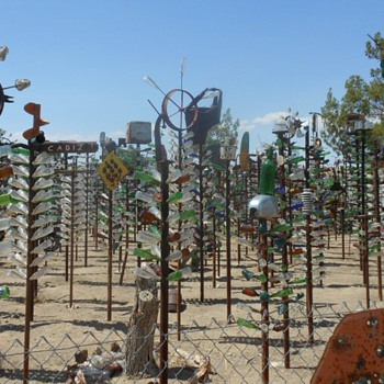Elmer's Bottle Tree Ranch Route 66 Oro Grande California - Bottles
