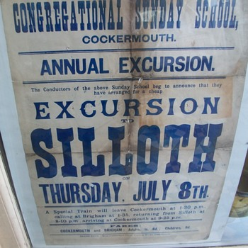 Poster of a Local Day trip circa 1890 - Advertising