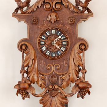 Black Forest Singing Bird Automaton Clock