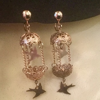 Birdcage earrings - Costume Jewelry