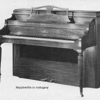 "1952 - Steinway ""Hepplewhite"" Piano Advertisement"