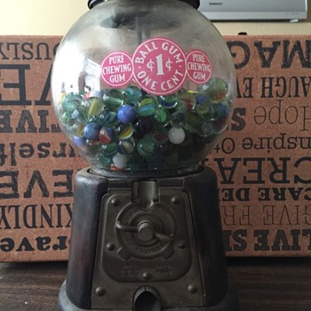 Advance Co Gumball Machine-What year was it manufactured?