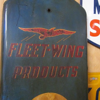 Fleet-Wing Products Thermometer...1930's - Petroliana