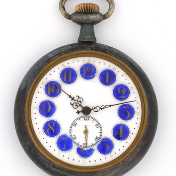 "Early Swiss Antique ""Erotic"" Animated Pocket Watch"