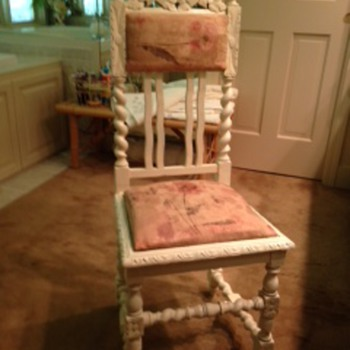 Ornate wooden Straight-back Chair